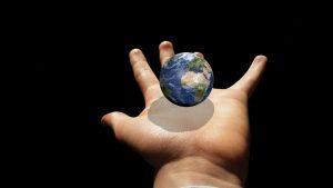 globe-in hand